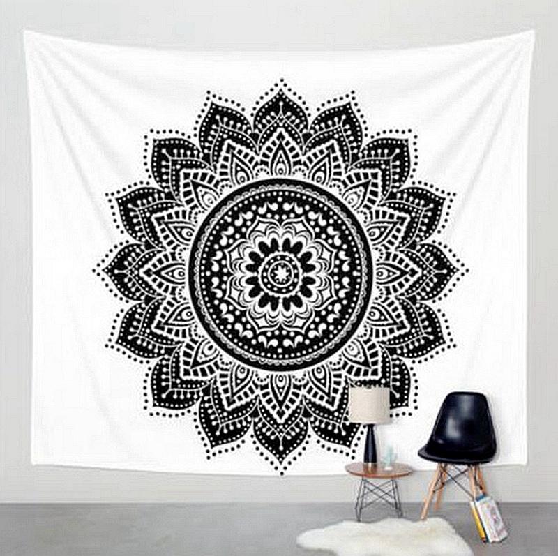 RTS Hot Dijual Polyester OEM Mandala Wall Hanging Kustom Permadani