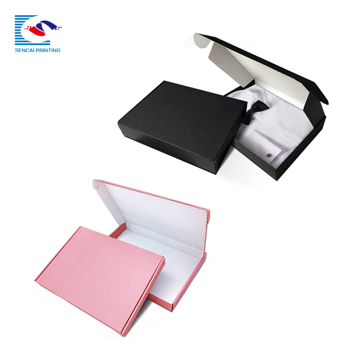 SENCAI hot sale custom logo clothes men shirt packing corrugated shipping paper box