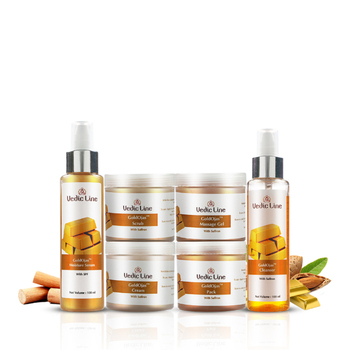 Wholesale Private Label OEM Cosmetics Manufacturer of Gold Facial Kit, 600Ml