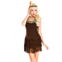 European and American Halloween native American Indian Tribal Princess Costume Role