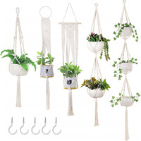 Home Boho Decor Macrame Plant Hanger Indoor Outdoor Hanging Planter Basket Cotton Rope