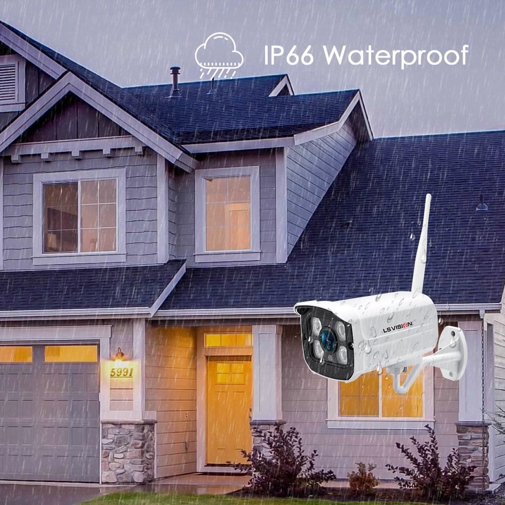 Home Security Camera System 4CH 2MP HD Waterproof POE NVR Kit 1080P P2P Video Surveillance Tuya Outdoor CCTV System