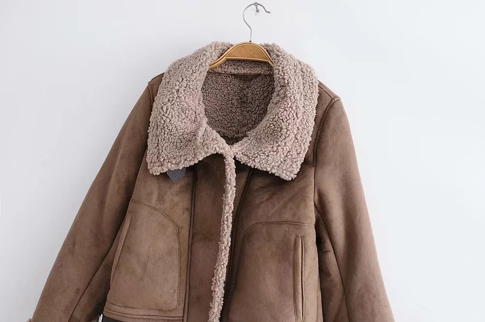 9428 Woman Winter Lamb Fur Jackets Design Short Length Coats