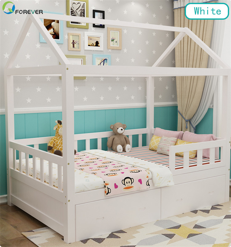 Baby Bed Princess Bed Cribs With Guardrail Modern Bedroom Furniture