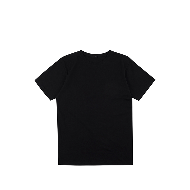 Cheap short sleeve basic high quality 100%cotton breathable black jersey t-shirt