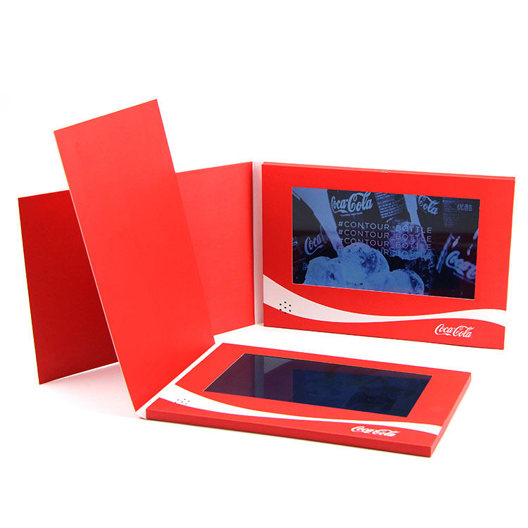 Customized printing 7 inch lcd screen video brochure for advertising
