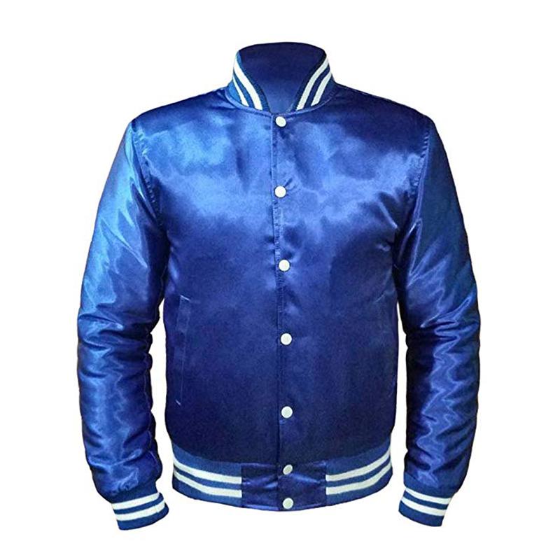 Custom made 100% raso di poliestere varsity giacca di raso del commercio all'ingrosso di baseball giacche