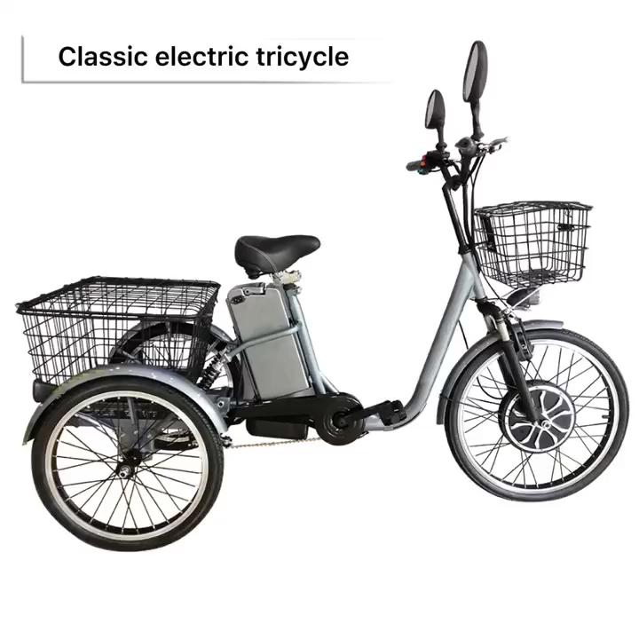 Kuake Fabrik Liefern OEM 48V 500W Erwachsene Dreiräder Drei Rad Elektrische Dreiräder für Erwachsene