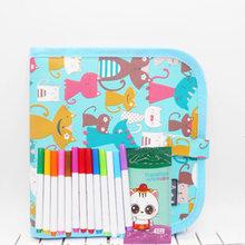 Детские игрушки для рисования, водяная раскраска, Детская Волшебная мультяшная портативная граффити-живопись, книги, складная доска с ручк...(Китай)