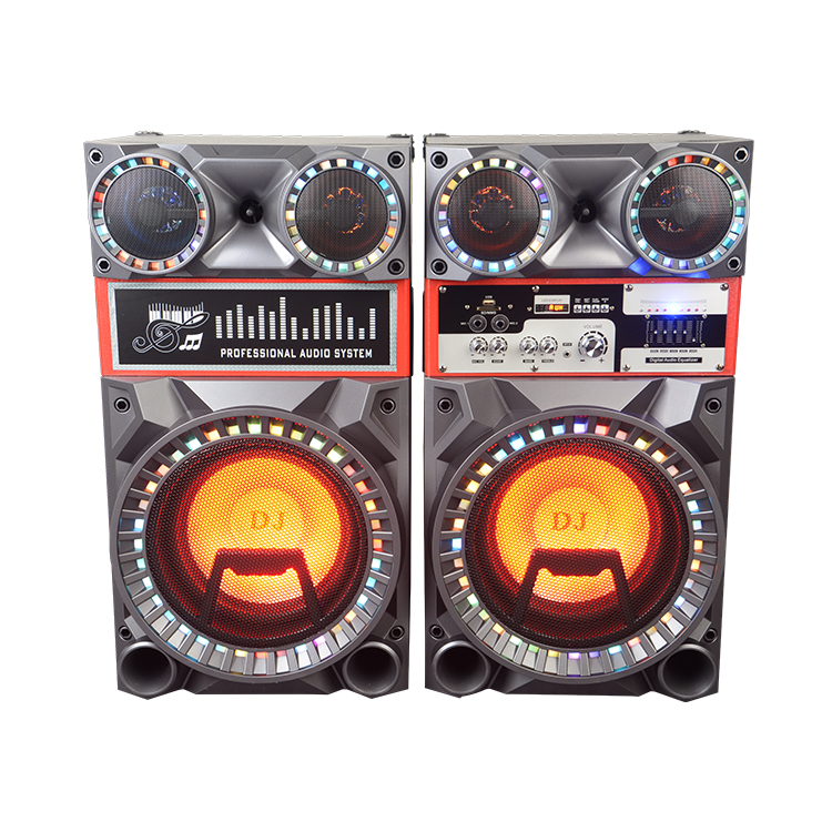 Professional DJ Bass speaker 2.0 active stage speaker home theatre with USB/SD/BT/MC/FM/Remote/EQ