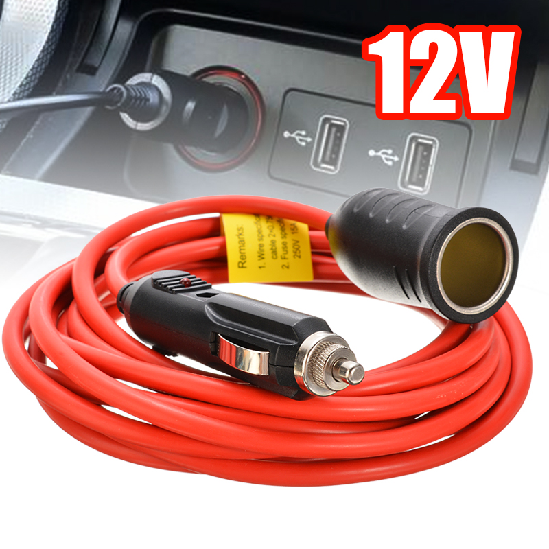 12V Auto Sigarettenaansteker Verlengkabel Lead Charger Socket Adapter