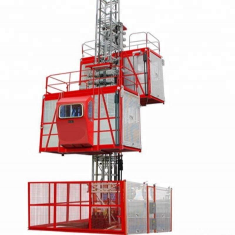 SC200 Construction Passenger Elevator Double Caged Hoist for Building Construction