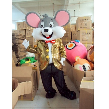 Adult Wearing Fur mouse animal costume for grand opening celebration
