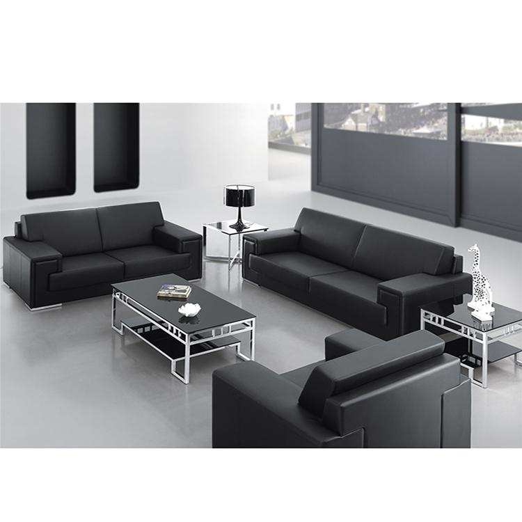 Haute Qualité Mobilier De Bureau En Cuir Canapé Ensemble Meubles De Salon Canapé De Bureau Moderne