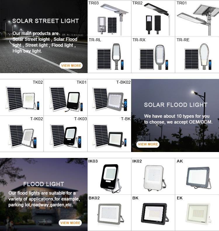 KCD 뜨거운 판매 30W 솔라 가로등 UV led 홍수 빛