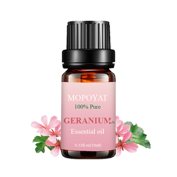 MOPOYAT 10ml Geranium Rose Essential Oil and OEM Geranium Oil 6 set