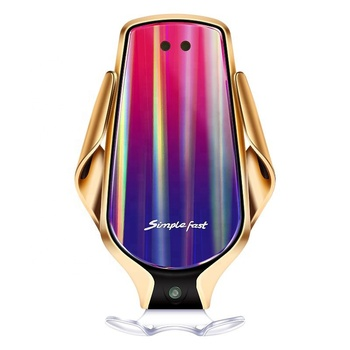 LAIMODA Fast Wireless Qi charger Charging Qi In Car Charge r Station Magnetic Phone Car Mount Qi Wireless Charger Car Charger