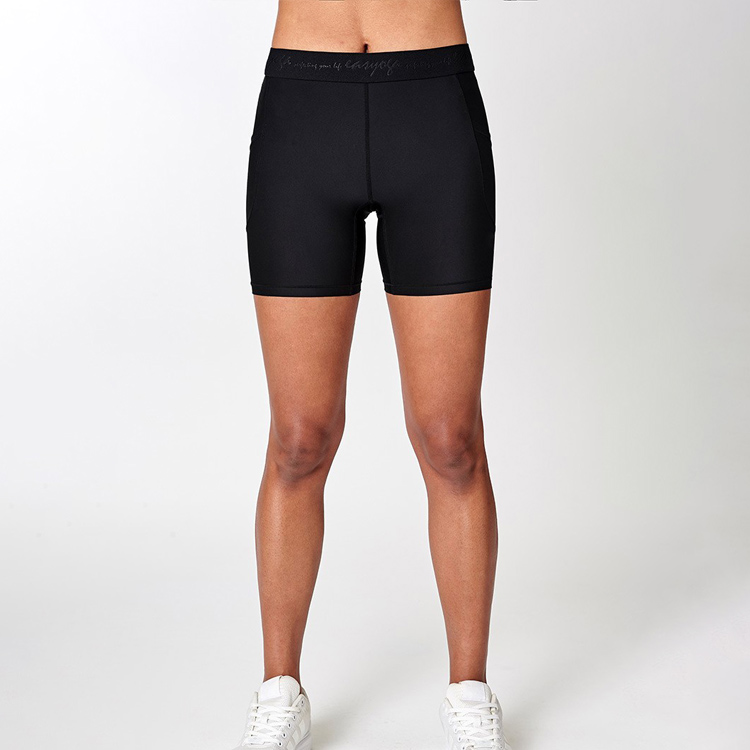 Tight women gym shorts with pocket girl yoga short fitness workout wear