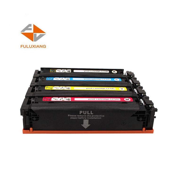 FULUXIANG CF540A CF541A CF542A CF543A 203A for HP LaserJet Pro M254/M254dw/254nw Printer Toner Cartridge