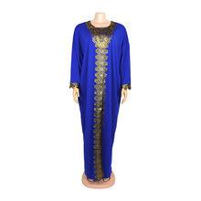 Супер размер, африканские платья для женщин, Дашики, золотая вышивка, африканская одежда, супер стрейч, халат Grand Boubou, Африканское платье(Китай)