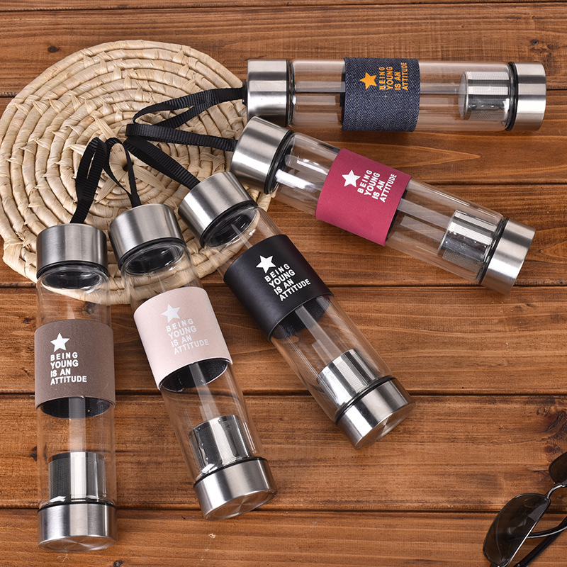 Cold Travel Buddy Tea Brew Infuser Bottle Ml 400 Glass Drink Water