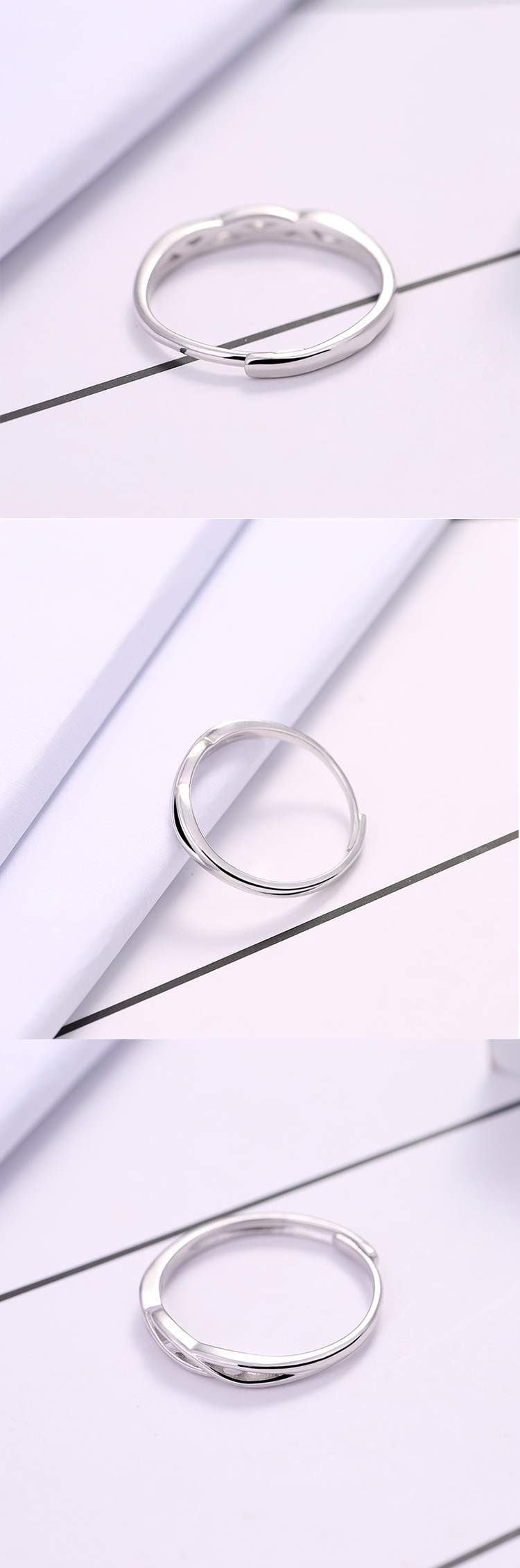 Fashion cheap elegant hollow out sterling silver ring