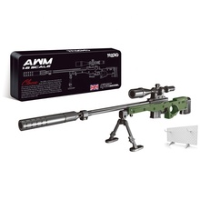 1/6 AWM Metalen Sniper Miniatuur Britse Leger Collection Souvenir Desktop <span class=keywords><strong>Decor</strong></span> Militaire Imiteren Speelgoed Legering Geweren Model Magnum Rifle