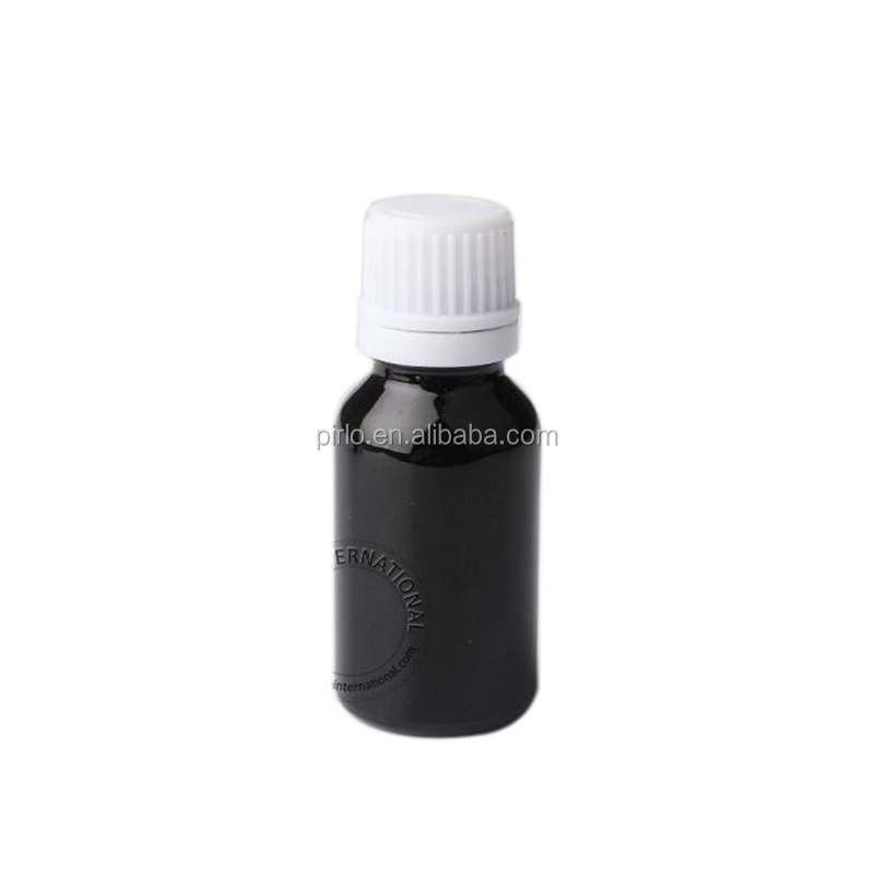 15ml black essential oil bottle perfume glass bottle with white tamp evident cap