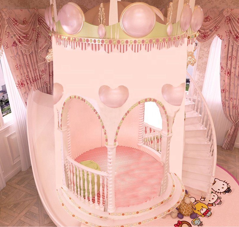Beautiful And Lovey Princess Bedroom Furniture Bed Set With slide