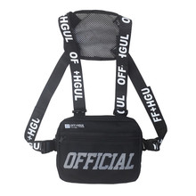 Groothandel Custom big cross body outdoor fashion sport sling <span class=keywords><strong>mannen</strong></span> unisex vest rig borst zak