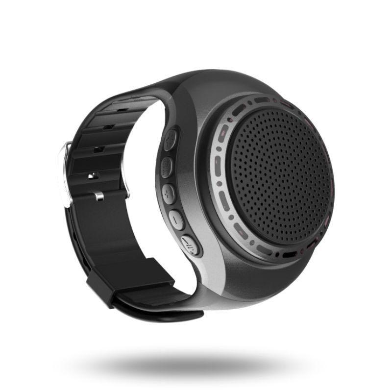 Wrist band wireless bluetooth speaker Sports Music Player wearable speaker Smart Watch (Gray)