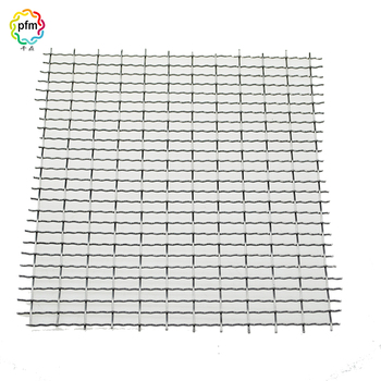 Welded stainless steel galvanized steel woven crimped wire mesh