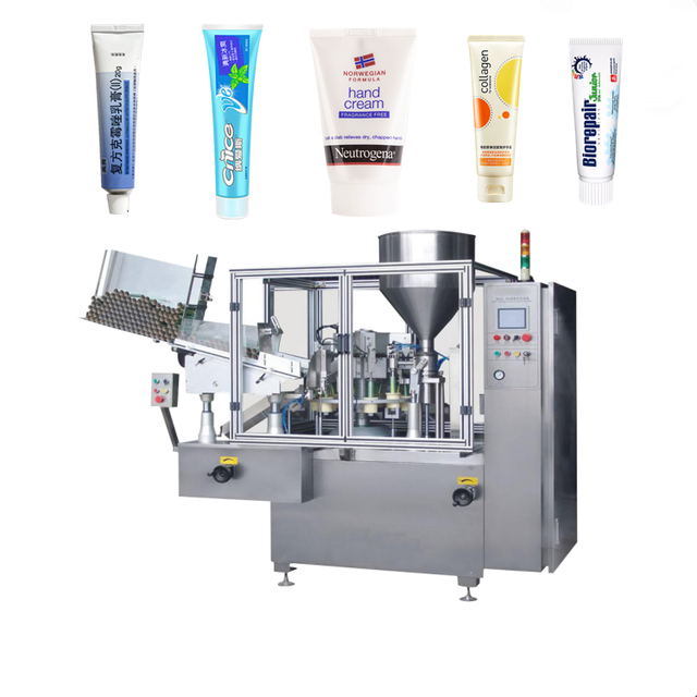 Automatic inner heating plastic toothpaste shampoo cream tube filling sealing machine for 10ml,50ml