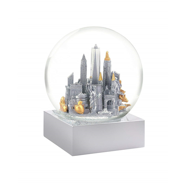 Winter Unieke Sneeuwbol New York City White Snow Globe Land Souvenir