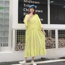 XITAO плиссированное платье размера плюс, Модный пуловер, веер богини, 2020, летнее, веер, веер, повседневное, стильное, свободное платье GCC3517(Китай)