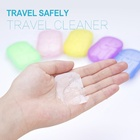 Skin Care 20pcs Portable Outdoor Travel Soap Paper Washing Hand Bath Clean Scented Slice Sheets Disposable Boxes Mini