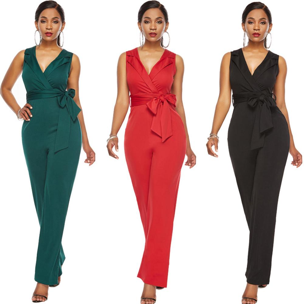 Elegant Long Pants Sexy White Jumpsuits Ladies Office Clothes Club wear Winter Rompers Women Jumpsuit