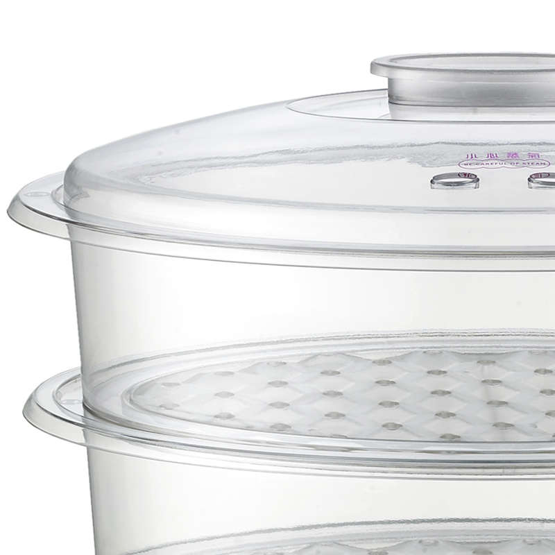 China Supply Commercial 3 Layers Plastic Housig Kitchen Digital Electric Food Steamer