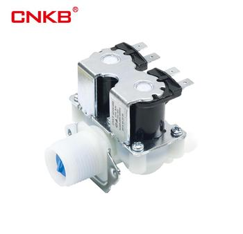 CNKB 2 Way G3/4 Plastic Washing Machine Water Inlet Valve for LG, Whirlpool, Midea, Normally Closed Solenoid Valve