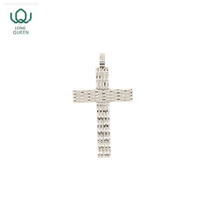 Hot sale cross jewelry stainless steel cross pendant of silver color