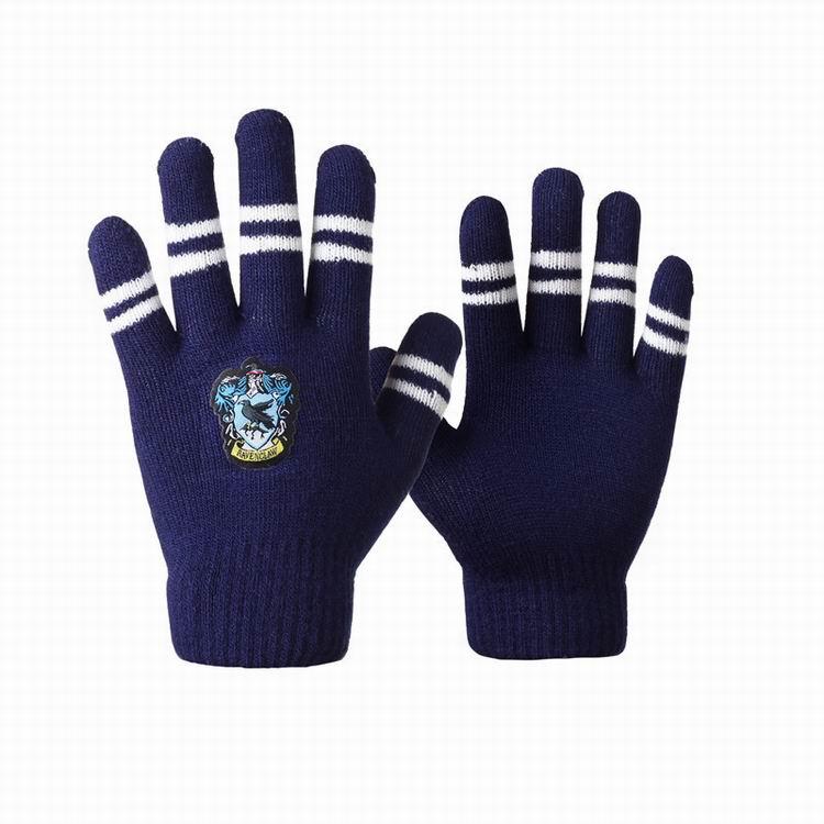 Children kids girl boy promotion knitted acrylic winter warm full finger Harry Potter fans magic Institute thick gloves