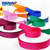 YAMA factory stocked solid color striped grosgrain petersham ribbon roll for packing accessories