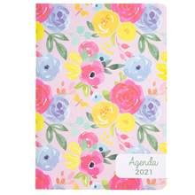 A5 2020 розовый Печатный чехол для планировщика портативный блокнот дневник канцелярские принадлежности практичный блокнот записывающее Рас...(Китай)