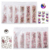 Wholesale Glass Designs Flat Back Mixed Easy Size Crystal Sticker Nail Art Rhinestones for Nails Art 3D Decorations