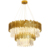 Luxury K9 Crystal Hanging Pendant Lamps Modern Gold Big Chandelier