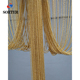 factory price shimmer gold decorative door partition hanging ball chain room divider metal bead curtain