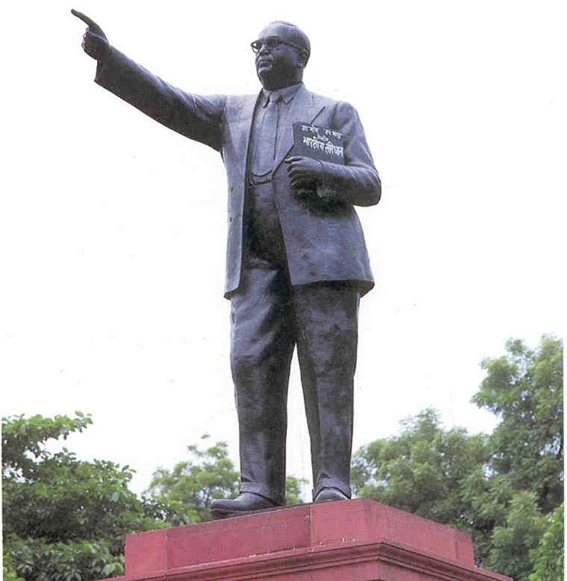 A grandezza naturale di alta qualità memoriale bronzo ambedkar statua