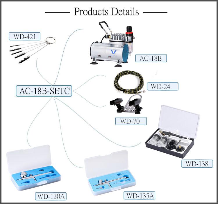 LinhaivetA nail mini air brush airbrush compressor cakes gun tattoo machine kit