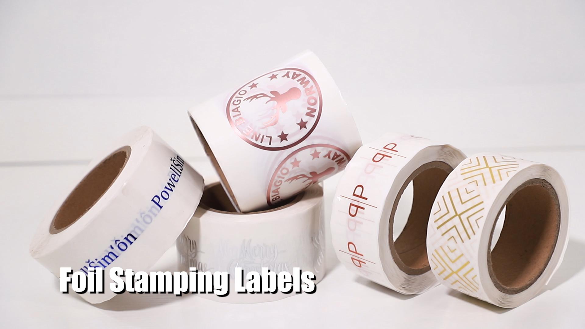 로즈 골드 호일 레이블, 사용자 정의 로고 로즈 골드 호일 라벨 접착 스티커 인쇄 화장품 라벨