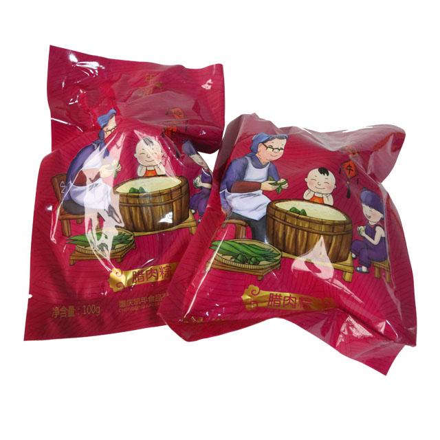 Skillful manufacture dragon boat traditional Chinese food mascot bacon zongzi
